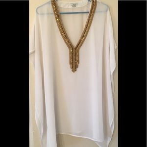 New white sheer cover up size XL